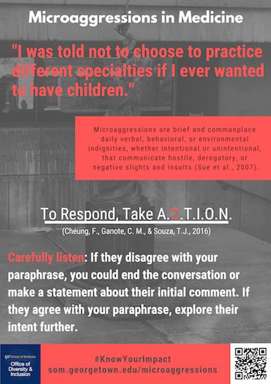 Microaggressions in Medicine poster