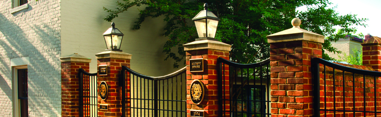 Gates at Robert and Bernice Wagner Alumni House, Georgetown University
