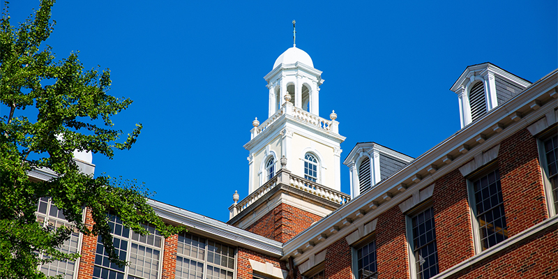 The cupola atop the School of Medicine building