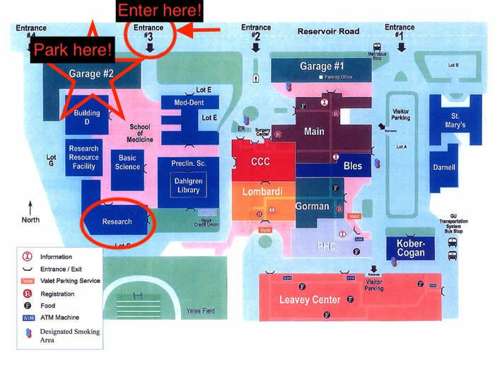 graphic image showing map to Mini-Medical School