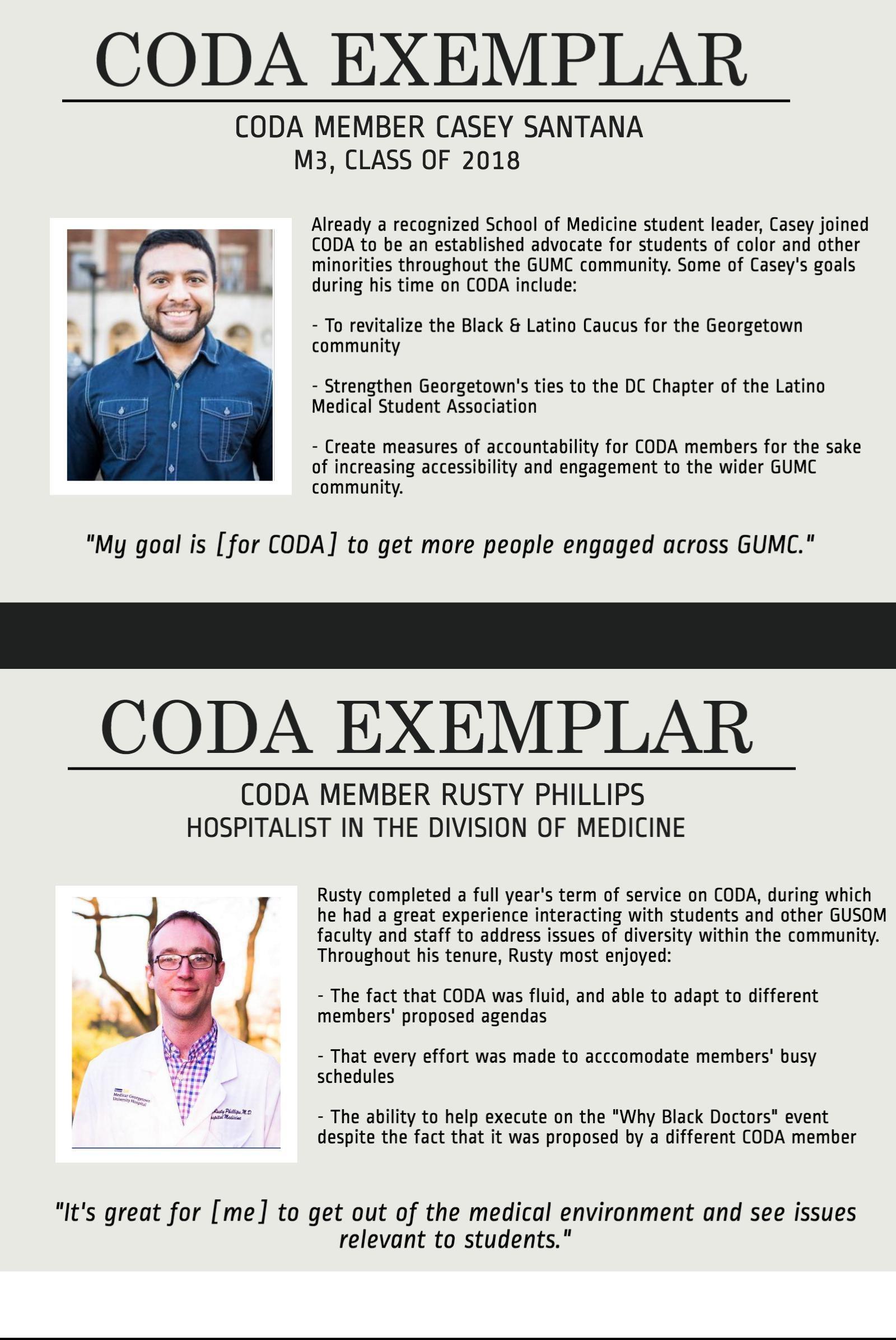 CODA EXEMPLAR: Casey Santana and Rusty Phillips