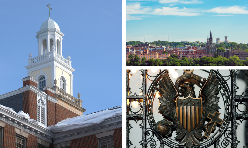 Collage of Photographs of Georgetown University