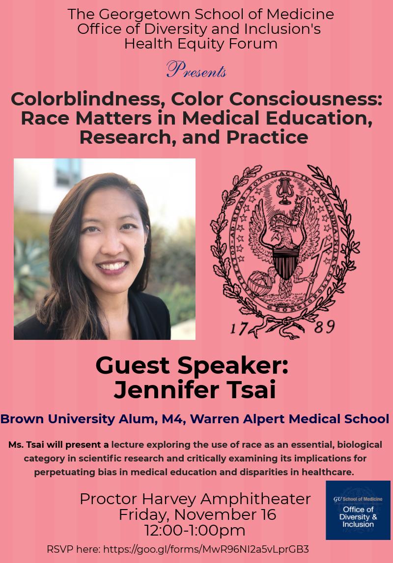 Jennifer Tsai: Colorblindness, Color Consciousness