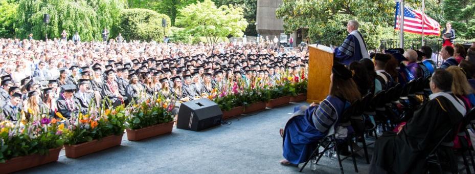 A graduation scene