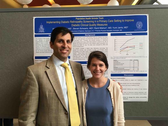 Elizabeth Horne, MS with her mentor Dr. Steven Schwartz.