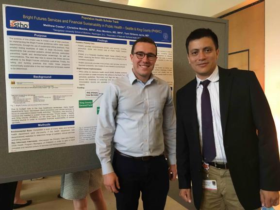 Matt Coster with his faculty advisor Dr. Alex Montero.
