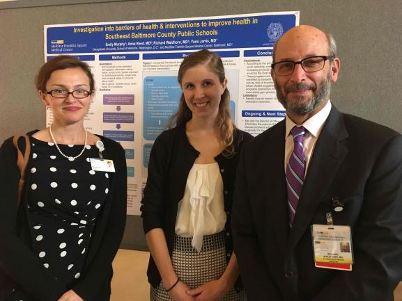 Drs. Reed and Waldhorn with their scholar Emily Murphy at 2016 Capstone