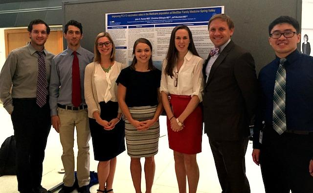 M2018 Scholars at the Annual Capstone Poster Presentation on September 21, 2015