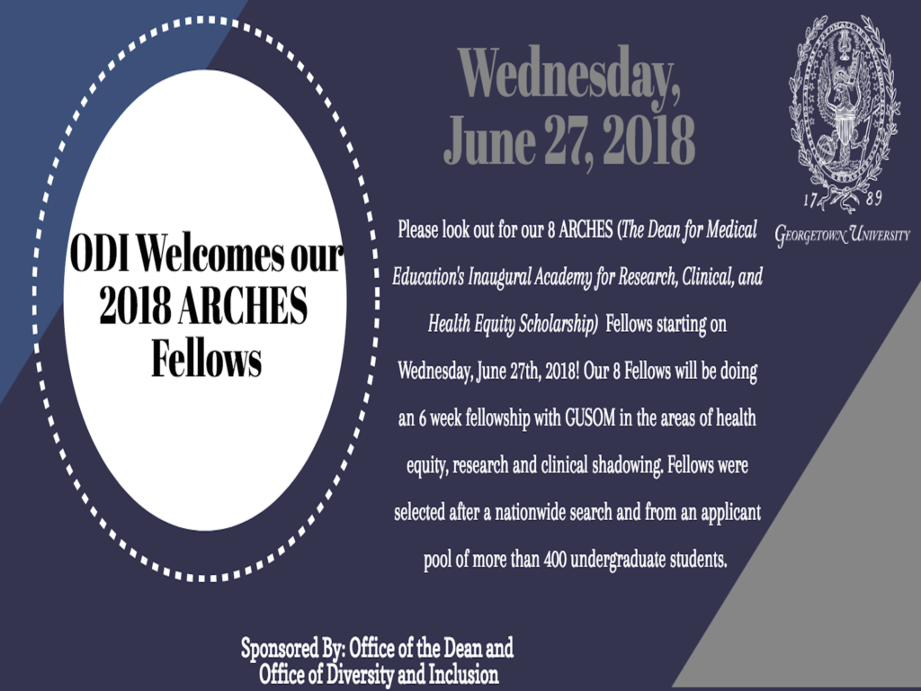 Announcement about 2018 ARCHES Fellows Selection