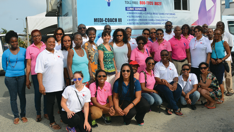 Antoine and the CMPPA partner with local care providers in Tobago to offer cancer screenings.