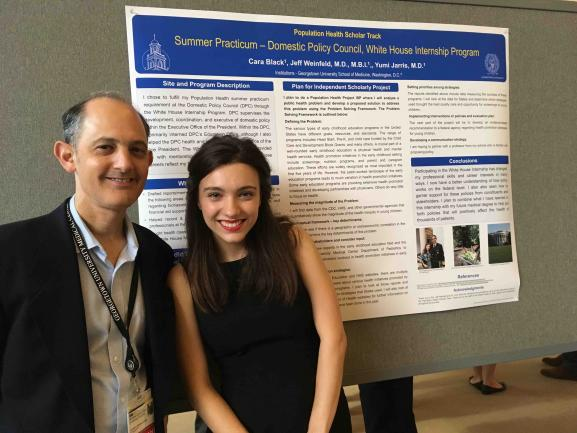 Cara Black with her faculty advisor Dr. Jeff Weinfeld.