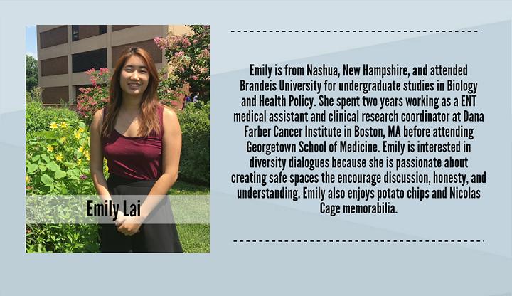 Emily Lai, 2017-2018 Peer Dialogue Facilitator