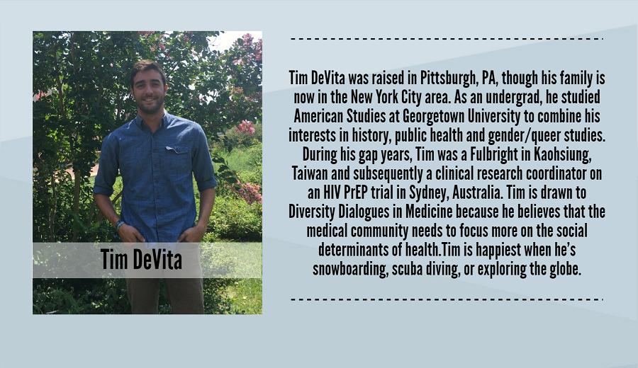 Tim DeVita, 2017-2018 Peer Dialogue Facilitator