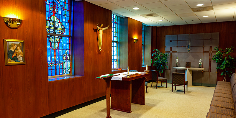 Ignatius Chapel in the Med-Dent Building